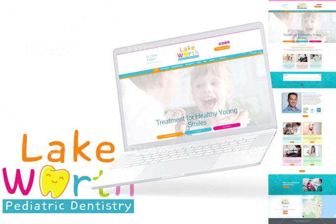pediatric dental website design example